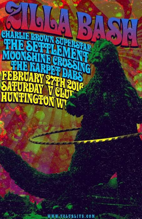 Zilla Bash W/ DJ Charlie Brown Superstar / The Settlement / Moonshine Crossing / The Karpet Dabs