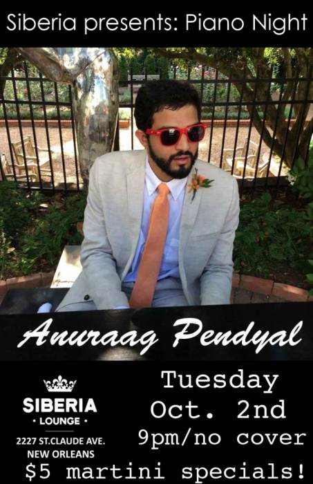 Piano Night: Anuraag Pendyal