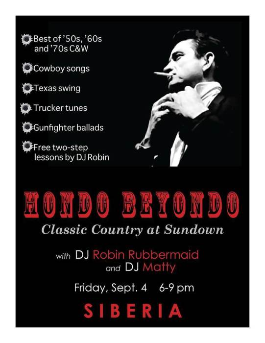 Hondo Beyondo: Classic Country with DJs Robin Rubbermaid and Matty
