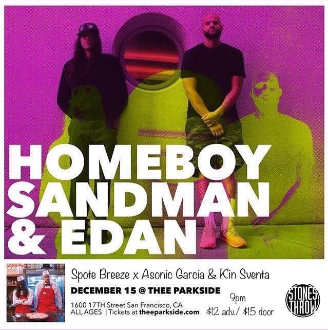 Homeboy Sandman & Edan, Spote Breeze + Asonic Garcia, K