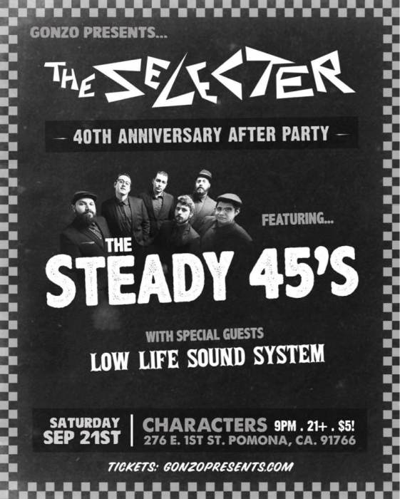 The Selecter After Party w/ STEADY 45s