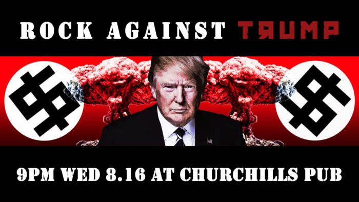 ROCK AGAINST TRUMP with Deadly Blank, Viceroii, Turtle Grenade, Mother, & Analog - NO COVER!