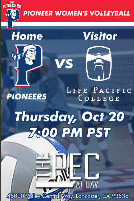 UNIVERSITY OF ANTELOPE VALLEY vs LIFE PACIFIC