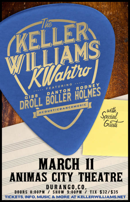 The Keller Williams KWahtro featuring Gibb Droll, Danton Boller and Rodney Holmes