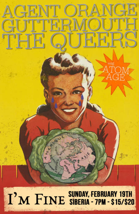 AGENT ORANGE | The Queers | Guttermouth | The Atom Age | I