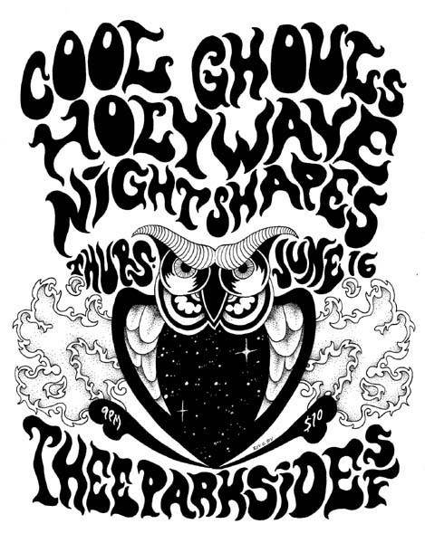 Cool Ghouls, Holy Wave, Night Shapes