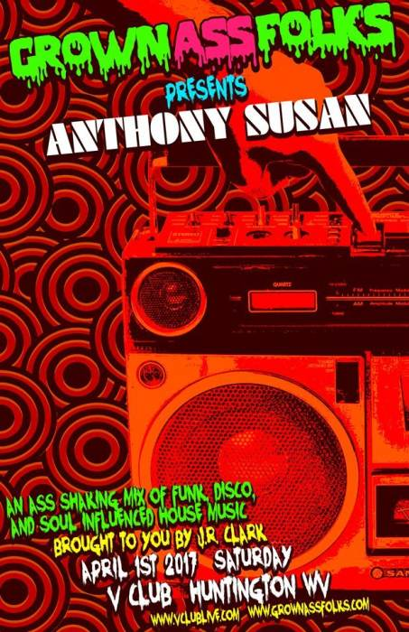 Grown Ass Folks Presents: Anthony Susan (Chocolate Boombox, PGH)