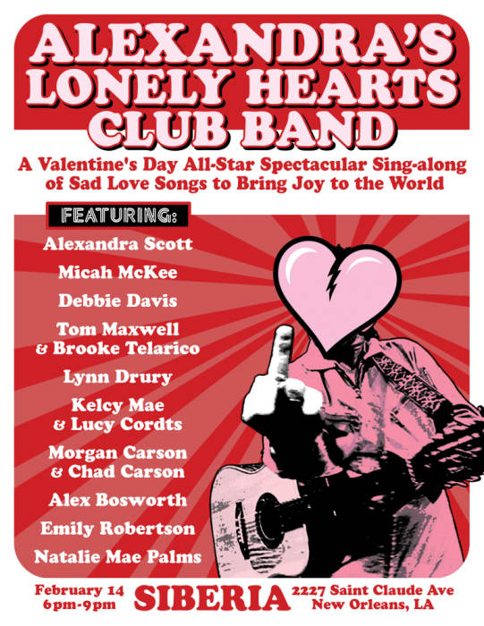 Alexandra's Lonely Hearts Club Band: A Valentine's Day Spectacular - EARLY SHOW!!