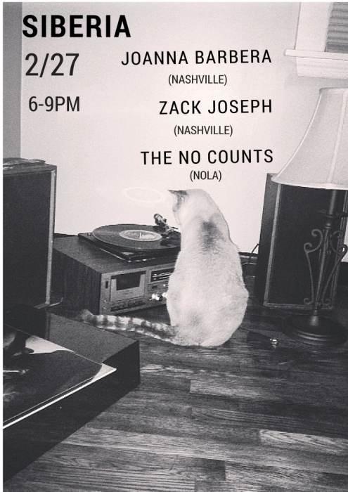 Joanna Barbera   Zack Joseph   The No Counts - EARLY SHOW!!