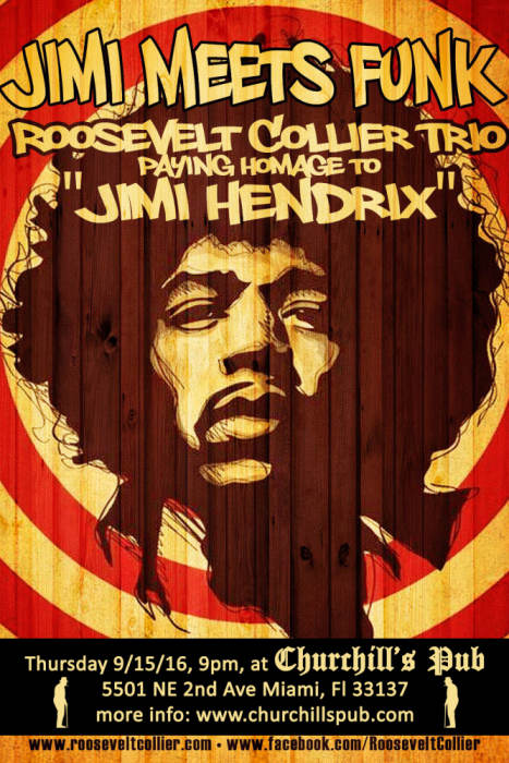 """Jimi Meets Funk"" Roosevelt Collier Trio pays homage to Jimi Hendrix"