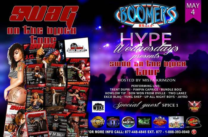 Boomers Hype Wednesday SWAG on the Block Tour
