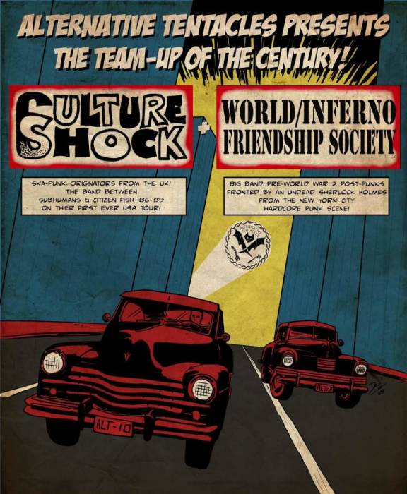 CULTURE SHOCK (members of Subhumans) & WORLD INFERNO FRIENDSHIP SOCIETY