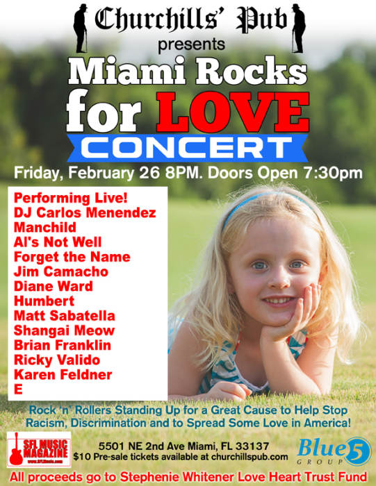 Miami Rocks for Love with DJ Carlos Menendez, Manchild, Al