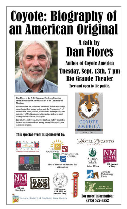 """Coyote America"" lecture by Dan Flores"