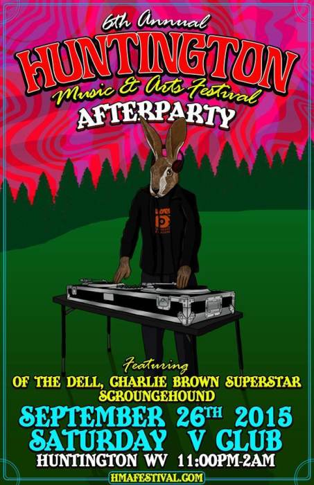 HMAF Afterparty W/ Charlie Brown Superstar / Of The Dell / ScroungeHound