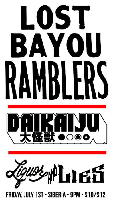 Lost Bayou Ramblers | DAIKAIJU | Liquor & Lies