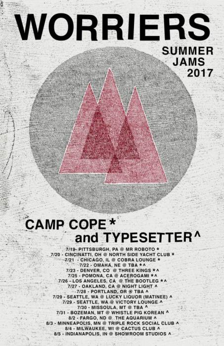 Worriers (NYC), Camp Cope (Australia), Typesetter (Chicago) & BlackDots