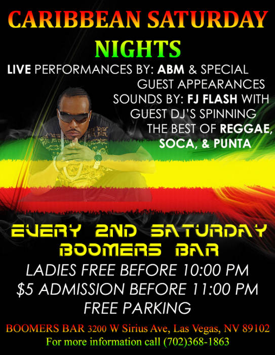 Caribbean Saturday Night with ABM and Special Guest Performers
