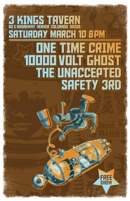 ONE TIME CRIME, SAFETY THIRD,THE UNACCEPTED, 10000 VOLT GHOST