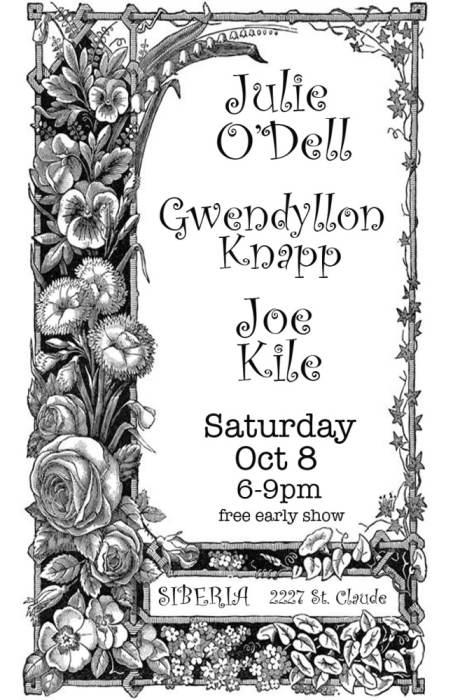 Julie Odell | Gwendolynn Knapp | Joe Kile  FREE EARLY SHOW!