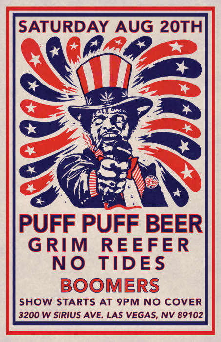 Puff Puff Beer/No Tides/Grim Reefer