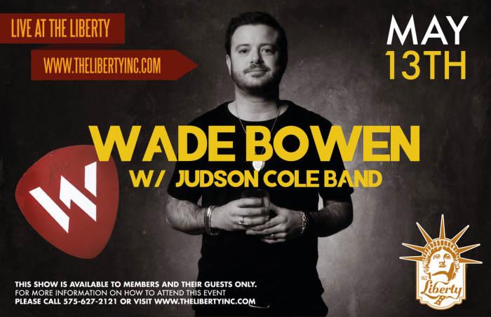 Wade Bowen w/ Judson Cole Band