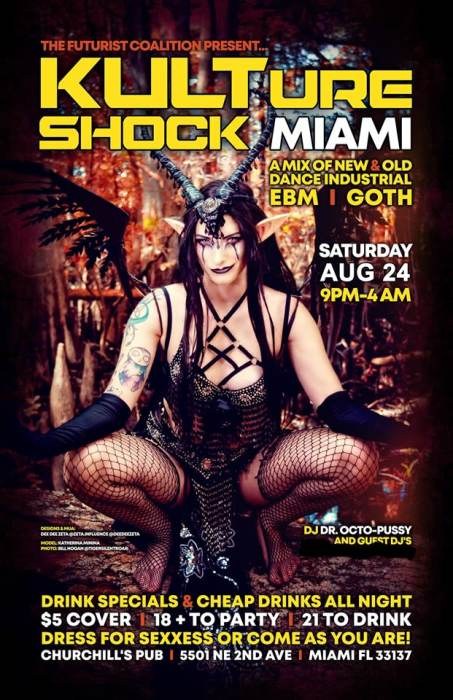 Kulture Shock Miami Industrial EBM and Goth Dance Party
