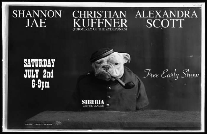 Christian Kuffner (Zydepunks) | Shannon Jae | Alexandra Scott - EARLY SHOW!!