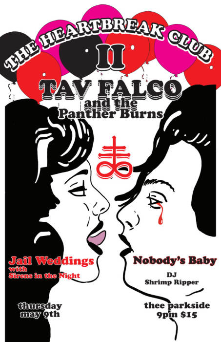 Tav Falco & The Panther Burns, Jail Weddings w/ Sirens in the Night, Nobody