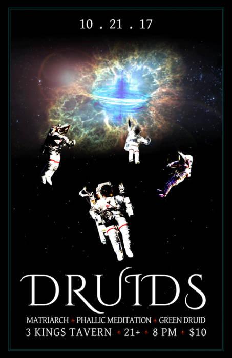 Druids (Members of Modern Life is War), Matriarch, Phallic Meditation & Green Druid