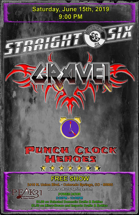 Straight Six / Gravel / Punch Clock Heroes