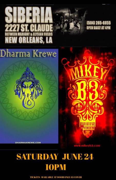 Dharma Krewe with Mikey B3 Band
