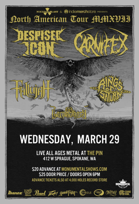 Despised Icon, Carnifex,
