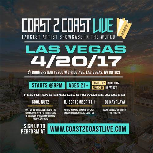 Coast 2 Coast Live Artist Showcase ~ Las Vegas Edition