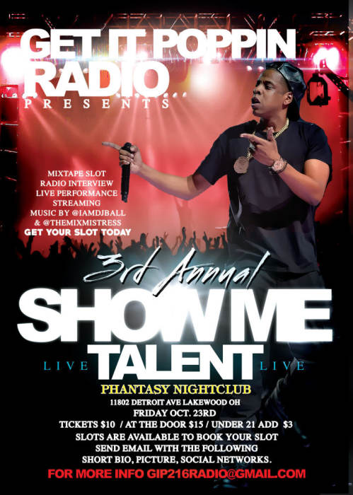 """""""GET IT POPPIN"""" SHOWCASE PRESENTS 3RD ANNUAL """"SHOW ME TALENT"""""""