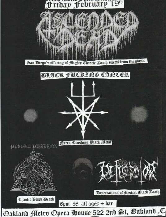 ASCENDED DEAD (San Diego) - BLACK FUCKING CANCER