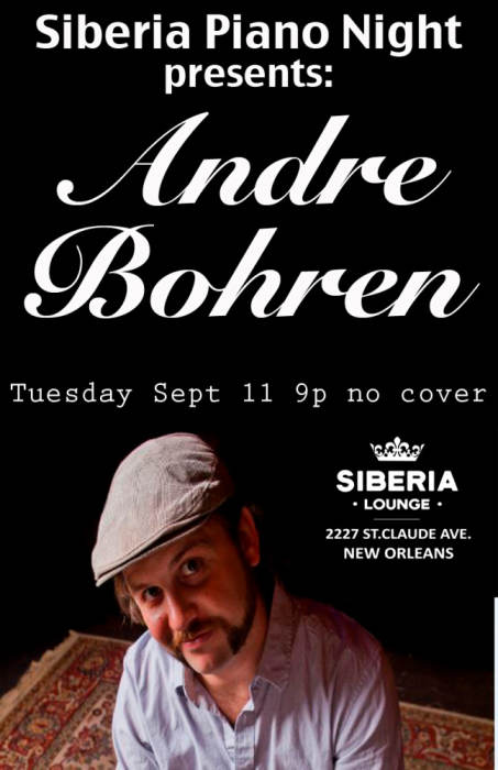 Piano Night: Andre Bohren