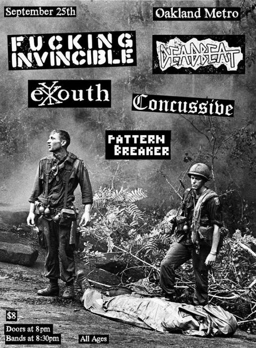 Fucking Invincible / Deadbeat / Ex Youth / Concussive / Pattern Breaker