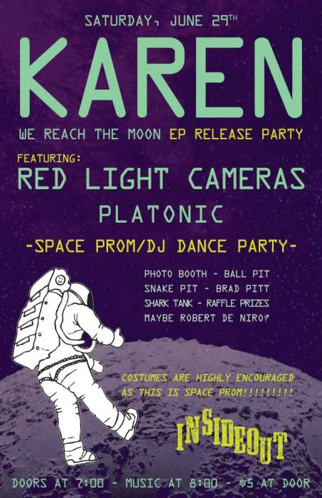 KAREN EP Release w/ Red Light Cameras & Platonic