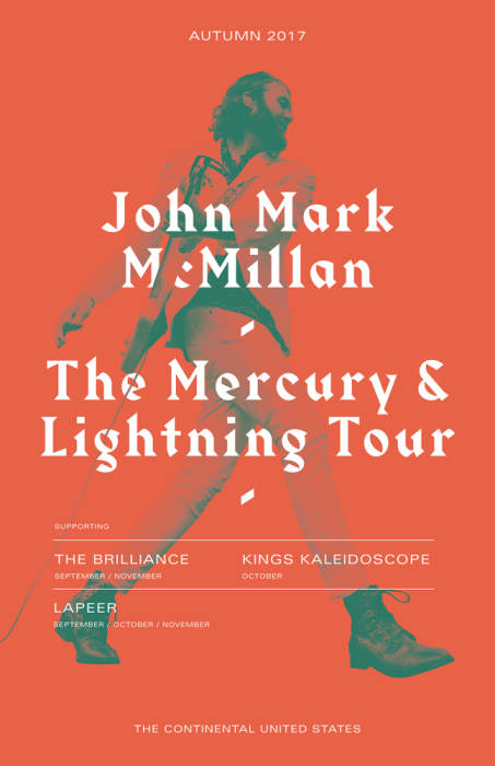 John Mark McMillian presents Mercury & Lighting Tour w/ Kings Kaleidoscope and LaPeer
