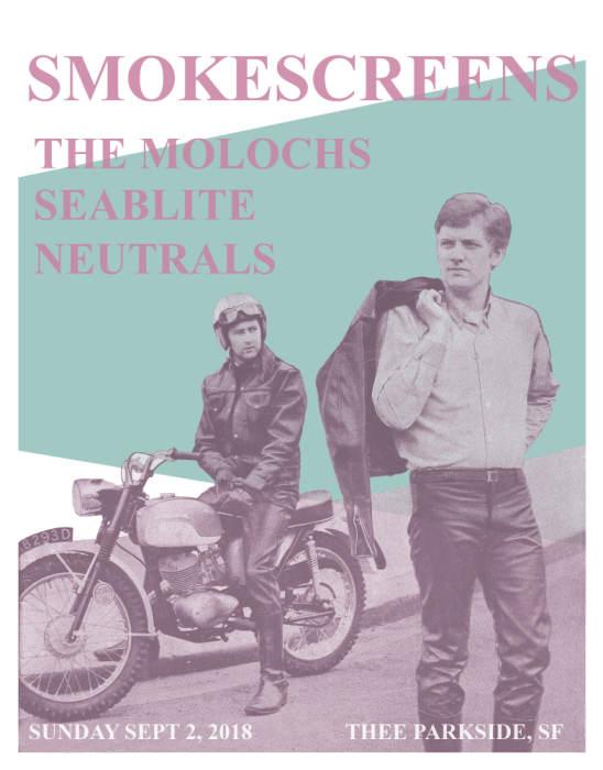 Smokescreens, The Molochs, Seablite, Neutrals