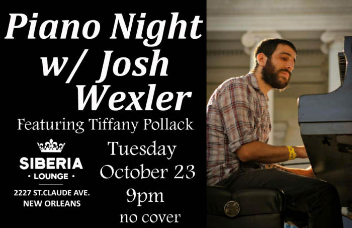 Piano Night: Josh Wexler ft. Tiffany Pollack