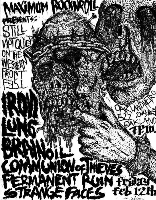 Iron Lung, Brainoil, Communion of Thieves Permanent Ruin, Strange Faces
