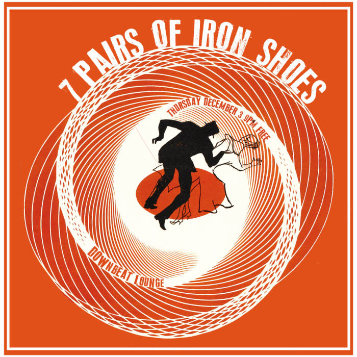 7 PAIRS OF IRON SHOES