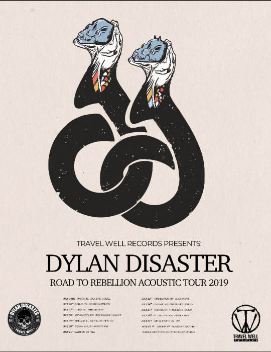TRAVEL WELL RECORDS PRESENTS: DYLAN DISASTER road to rebellion acoustic tour