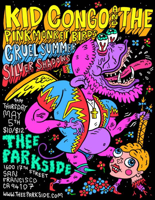 Kid Congo & The Pink Monkeybirds, Cruel Summer, Silver Shadows, DJ Omar Perez (Popscene)