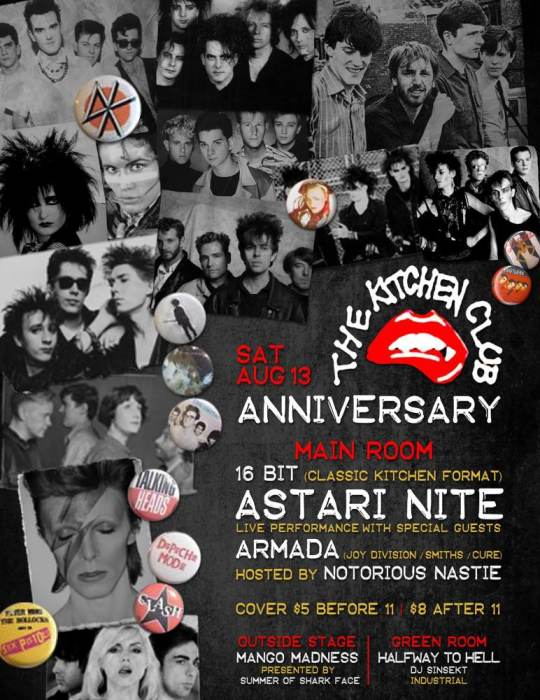 The Kitchen Club Anniversary with DJ 16 Bit, Astari Nite, Armada! DJ Sinsekt, Summer of Sharkface, (3 rooms), 9p-5a