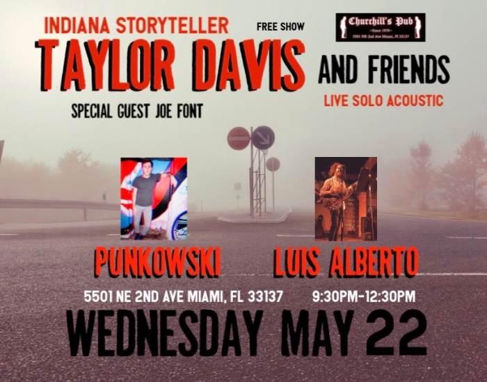 Taylor Davis, Punkowski, Luis Alberto, and Joe Font