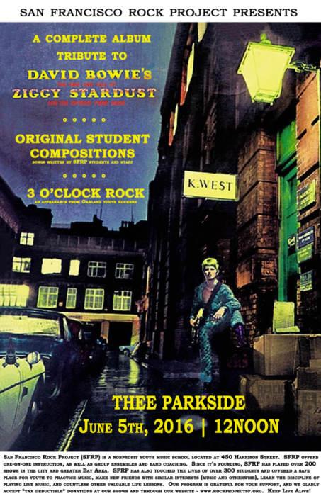 San Francisco Rock Project Presents: Ziggy Stardust + Student Originals