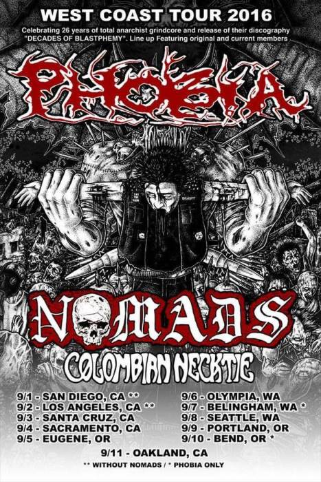 Phobia, Nomads, Colombian Necktie
